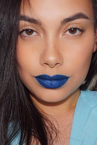Pretty Makeup Ideas with Blue Lipstick picture 4
