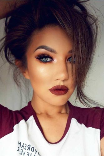 Burgundy Matte Stiletto Nails With Glossy Tips: 36 Variations Of Burgundy Lipstick Matte For All Skin Tones