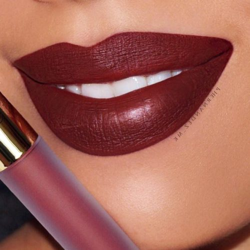 Chic Burgundy Lipstick Matte picture3
