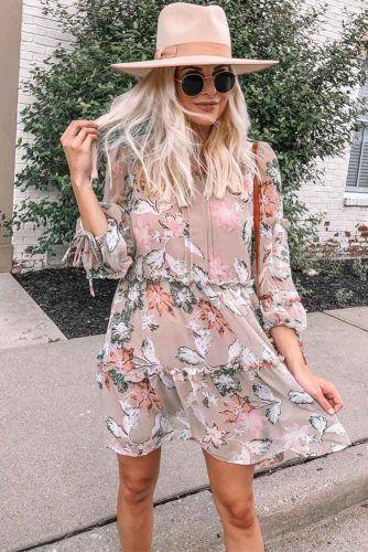 Floral Casual Dress Design #floraldress