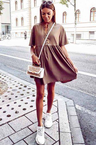High Waisted Short Dress Design #shortcasualdress