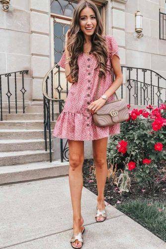 Short Polka Dots Casual Dress #polkadotsdress