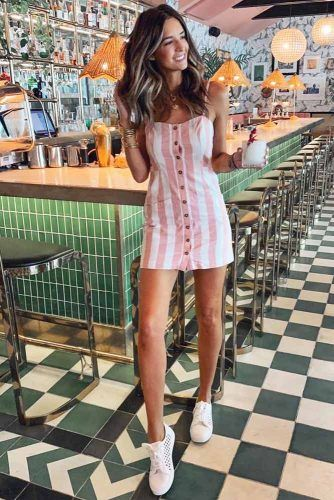 Short Striped Casual Summer Dress #stripeddress