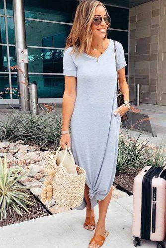 Gray Midi T-shirt Dress #tshirtdress