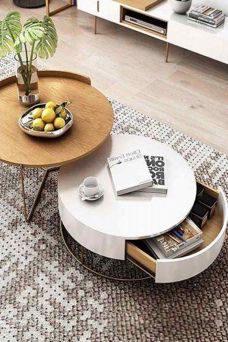 Round Coffee Tables Set #spacestorage