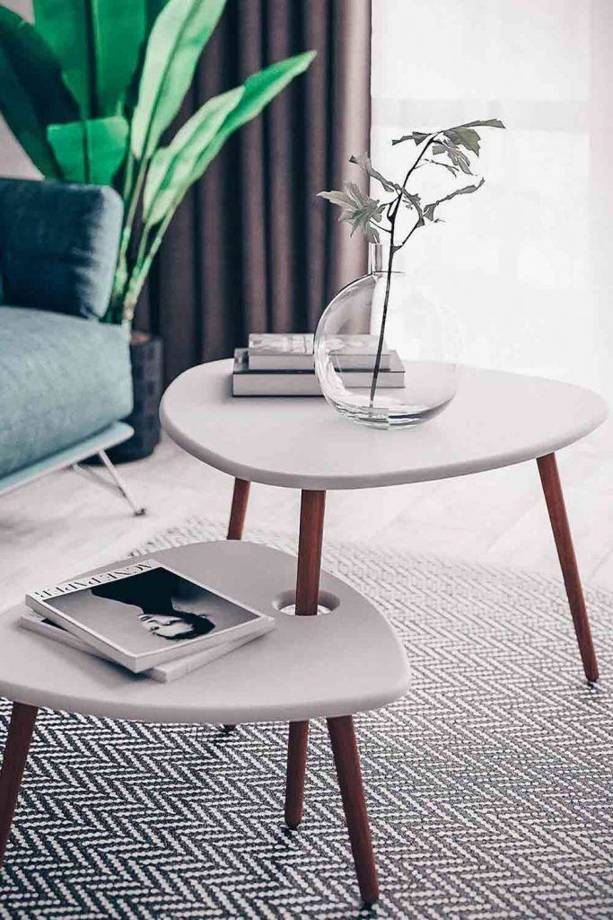 Modern Double Coffee Table #doublecoffeetable