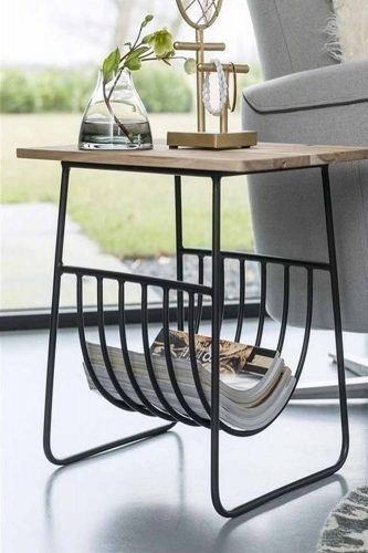 Industrial Coffe Table Design With Storage Space #industrialstyle