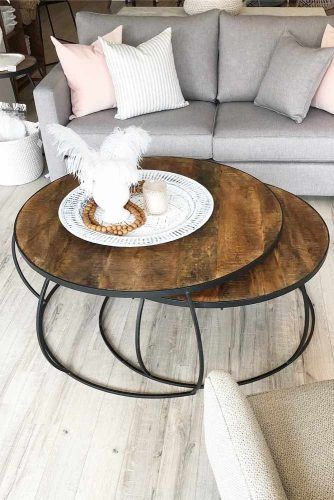 Wooden Modern Coffee Table #roundtable
