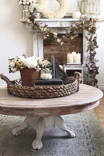 Wooden Vintage Coffee Table Design #vintagecoffeetable
