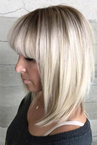 Hairstyles with Fringe for Medium Hair picture 1