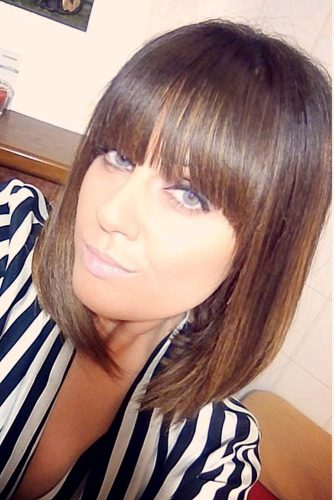 Hairstyles with Fringe for Medium Hair picture 6