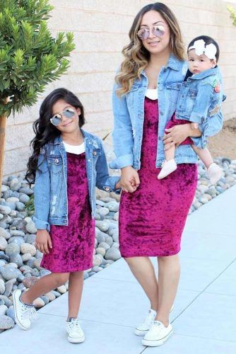 Dress And Denim Jackets Outfits #dress #denimjacket
