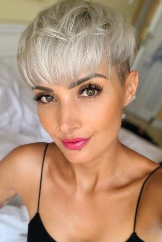Pixie Cut Ideas With Bang #pixie #shorthair #bangs