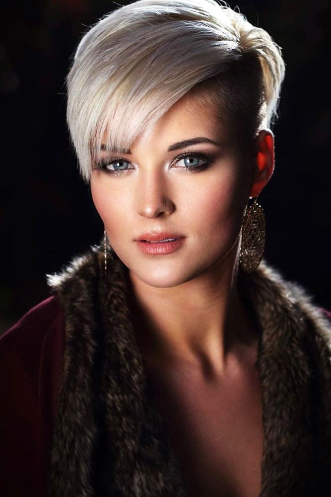Pixie Cut Ideas Side Bang #shorthair #pixie #bangs