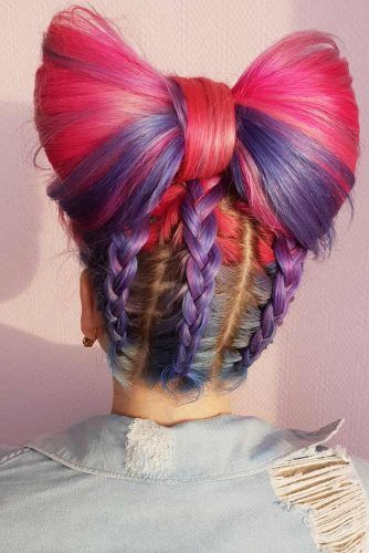 Bow Hairstyle With Braids #bow