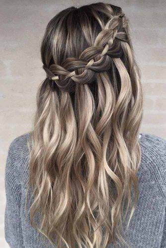 Waterfall Braid Hairstyle #waterfallhair