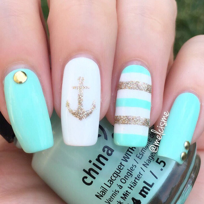 Awesome Anchors Nail Design