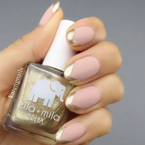 Summery French Tips