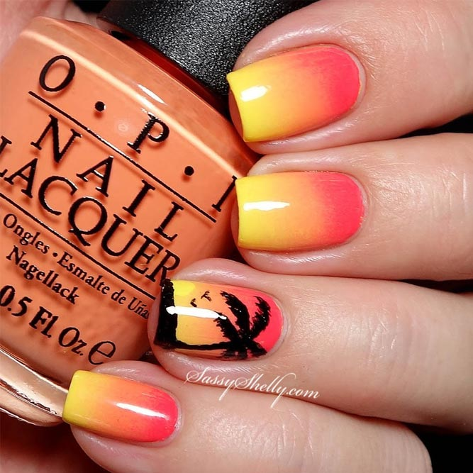 Romantic Summer Nights Nail Design