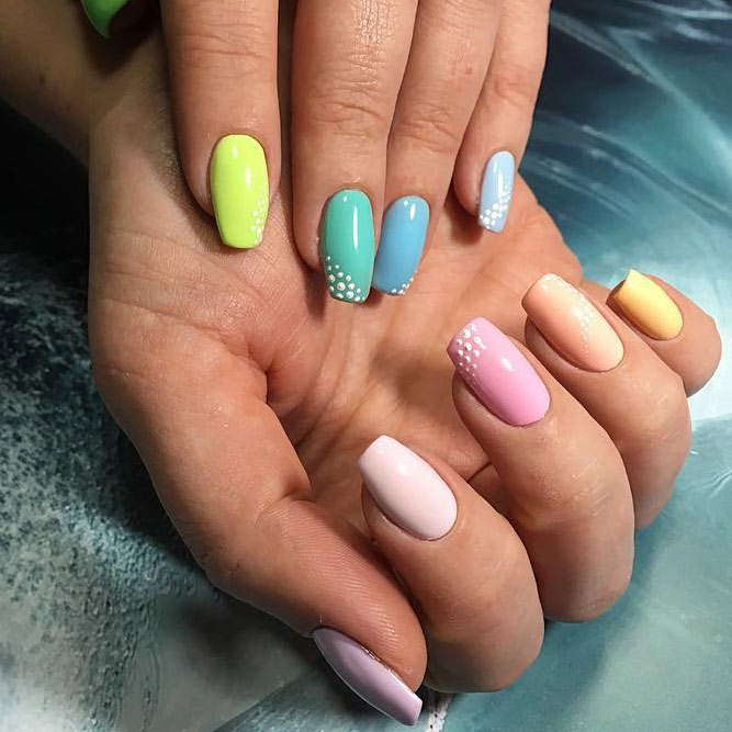 Pastel Rainbows Nails