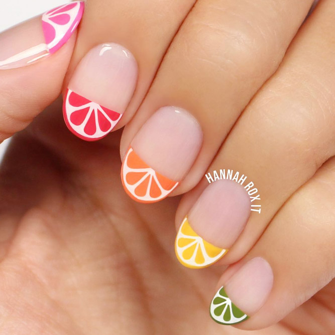 Fun And Fruity Nails With Citrus Tips #citrusnails