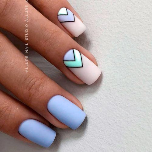 Matte Triangular Nails Design #mattenails #triangularnails