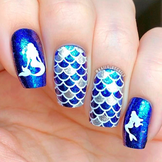 Little Mermaid Nails #mermaidnails #sparklynails