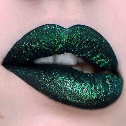 Green Lipstick with Glitter picture5