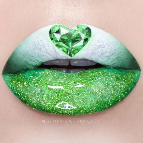 Green Lipstick with Glitter picture2