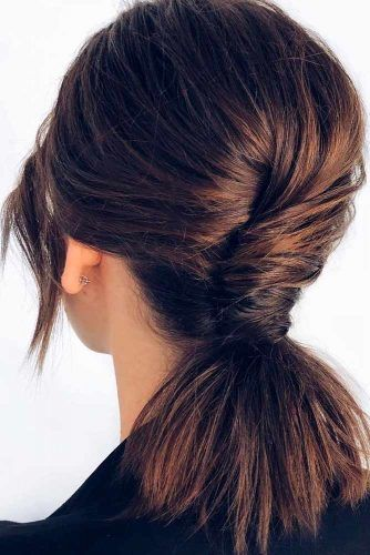 Shoulder Length Ponytail #ponytailhairstyle