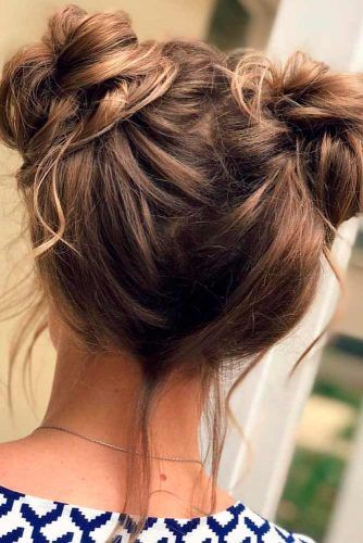 Two Top Knots #topknothairstyles #messyhair