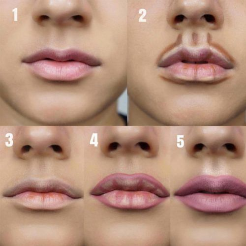 Step By Step Lips Makeup #lipstutorial #lipscontouring