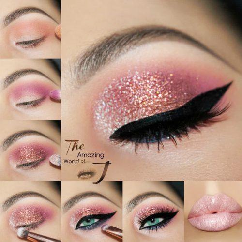 Glitter Eyes Makeup Tutorial #glittereyeshadow #eyesmakeup
