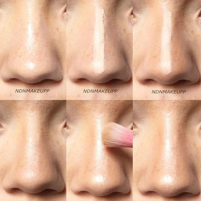 Simple Nose Contouring #concealer #highlighter