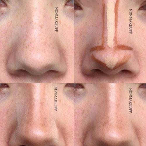 Nose Contour Tutorial #stepbystep #nosemakeup