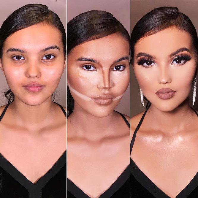 Contoring Makeup Transformation #beforeafter #contour