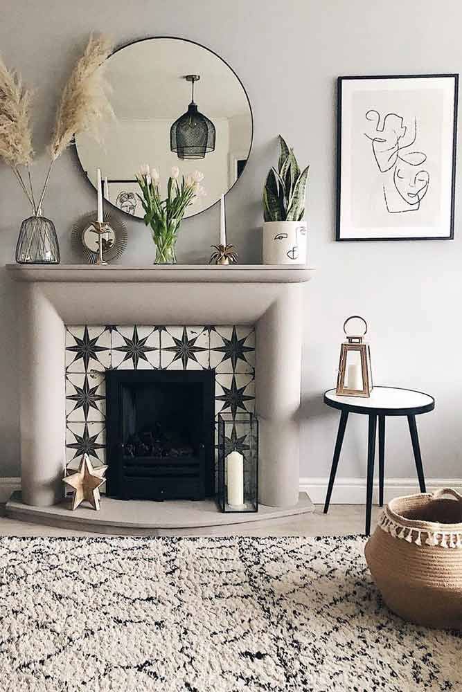 Fireplace Decor In Living Room #fireplace