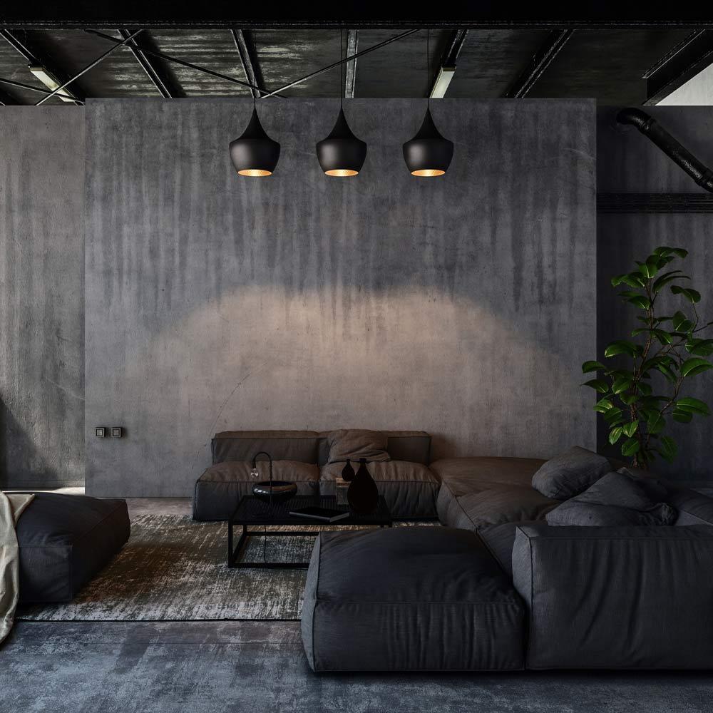 Dark Themed Living Room Decor
