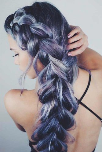 Stylish Braids With Colored Long Hair picture 6