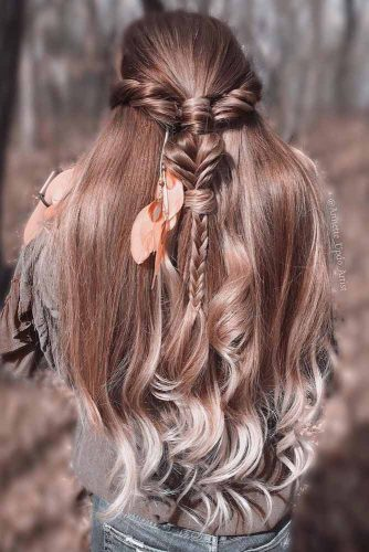 Stylish Braids With Colored Long Hair picture 4