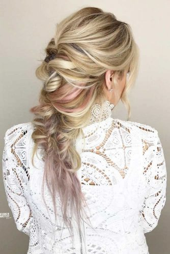 Stylish Braids With Colored Long Hair picture 2
