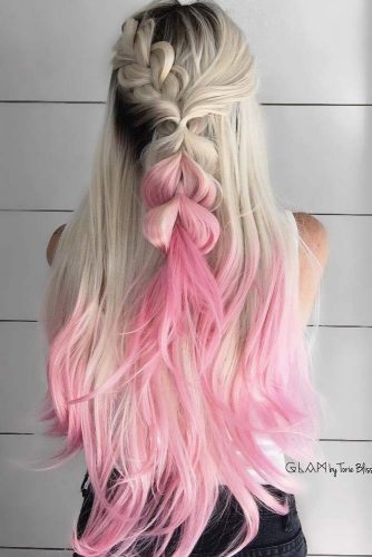 Stylish Braids With Colored Long Hair picture 5