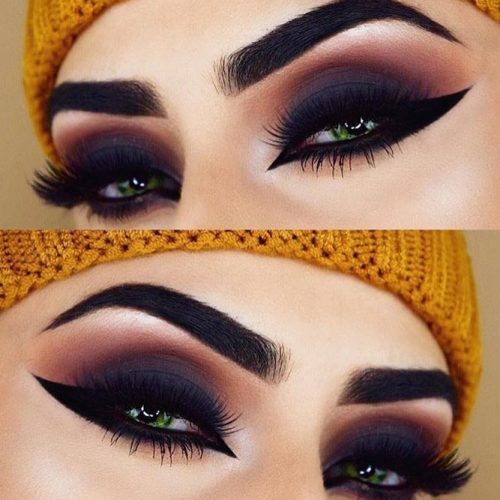 Dark Matte Smokey Eyes Makeup #smokeyeyes