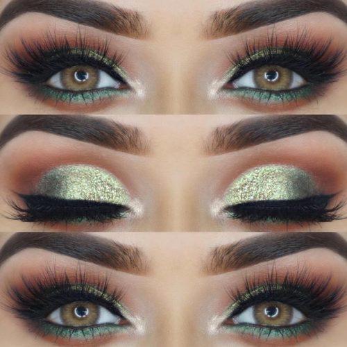 Shimmer Smokey Eyes Makeup Idea #greensmokey