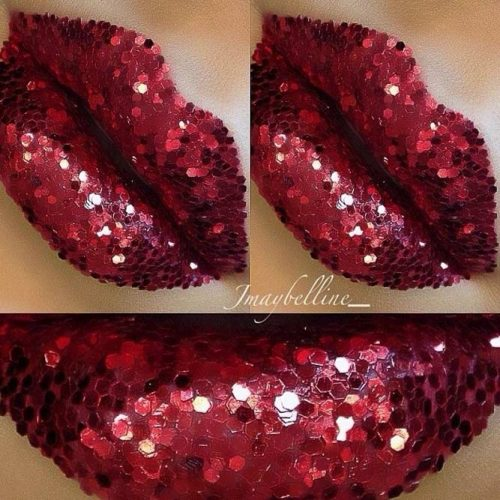 Glitter Maroon Lipstick picture2