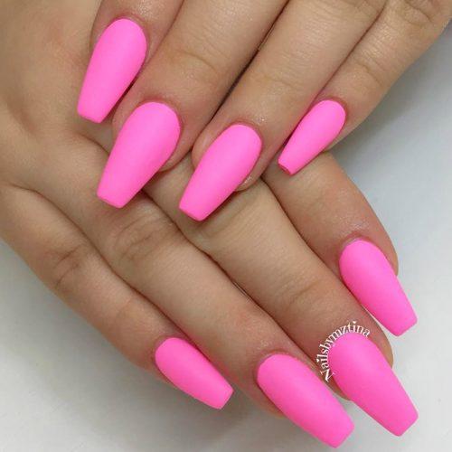 Pink Matte Mani