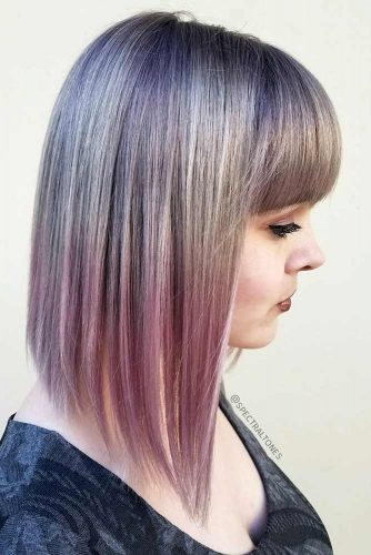 Fabulous Textured Long Bob with Bang picture 2