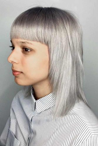 Fabulous Textured Long Bob with Bang picture 3