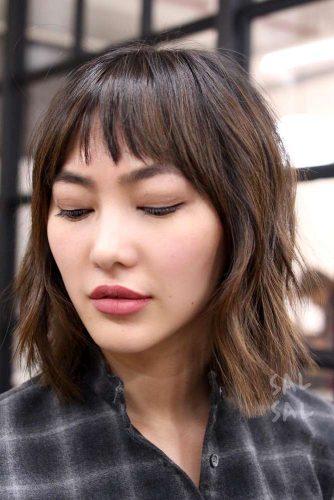 Short Bangs in Medium Hair Styles picture 5