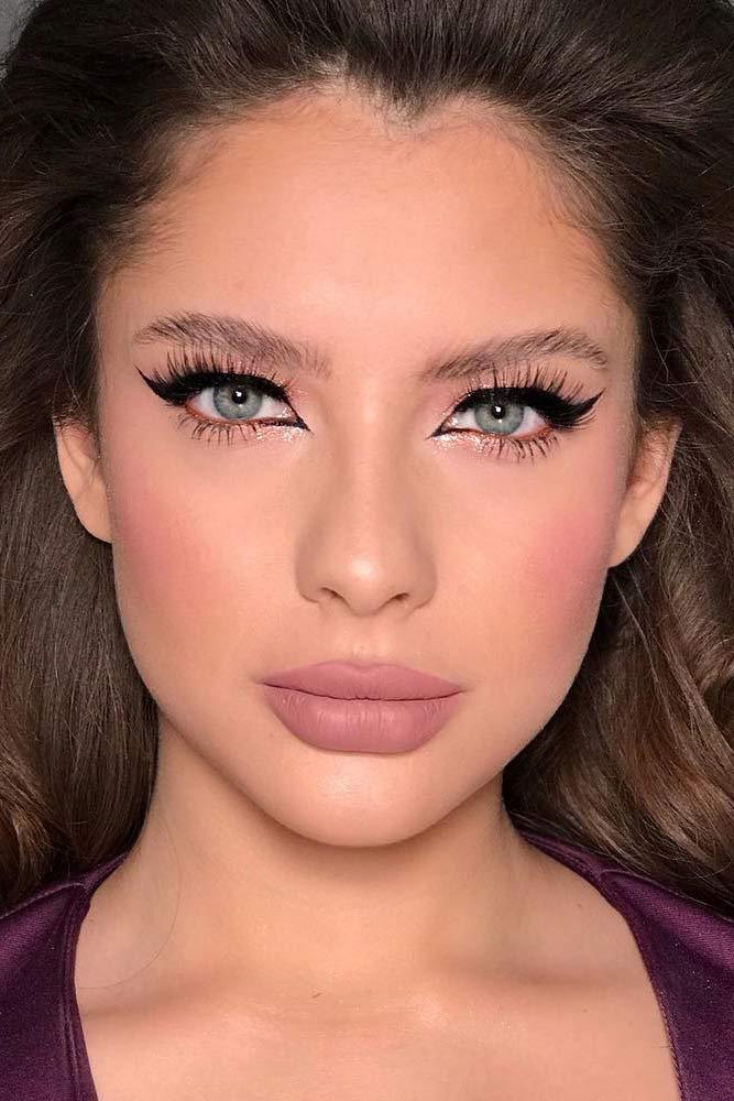 Matte Pretty Summer Makeup Idea #mattelipstick